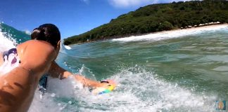 Bodysurf em Noronha