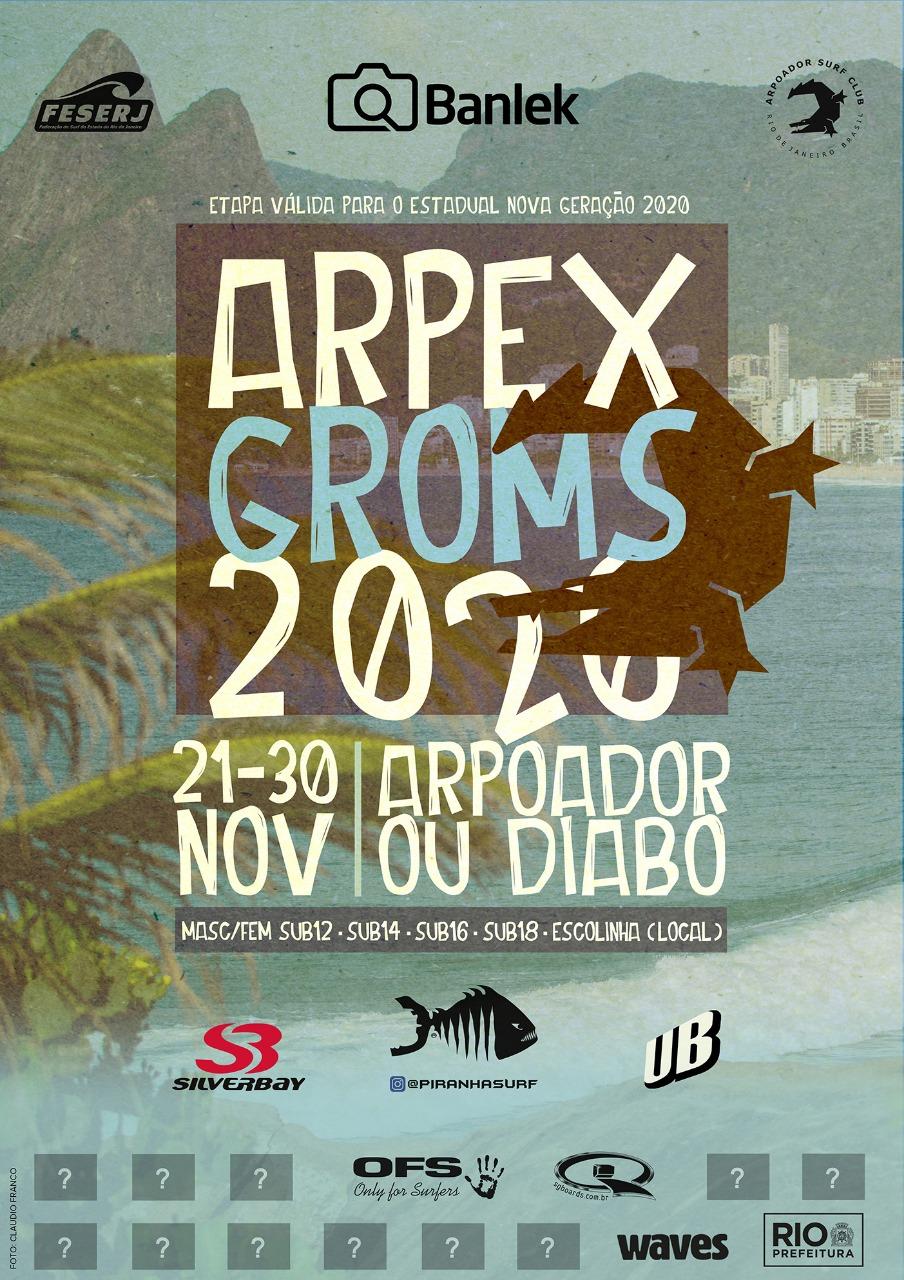 Cartaz do Arpex Groms 2020.