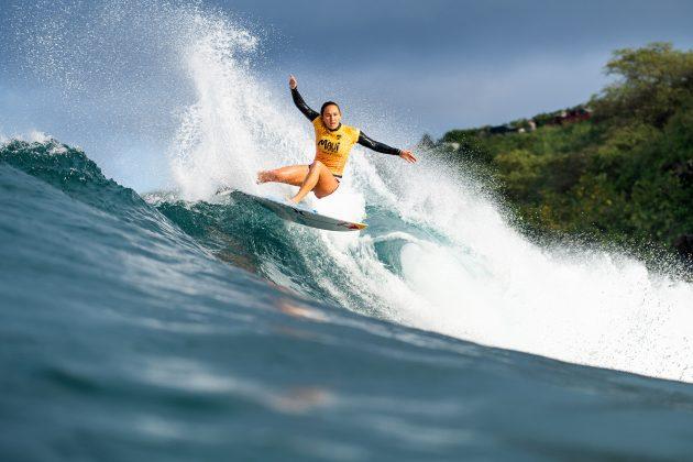 Carissa Moore, Honolua Bay, Maui, Havaí. Foto: WSL / Dayanidhi Das.