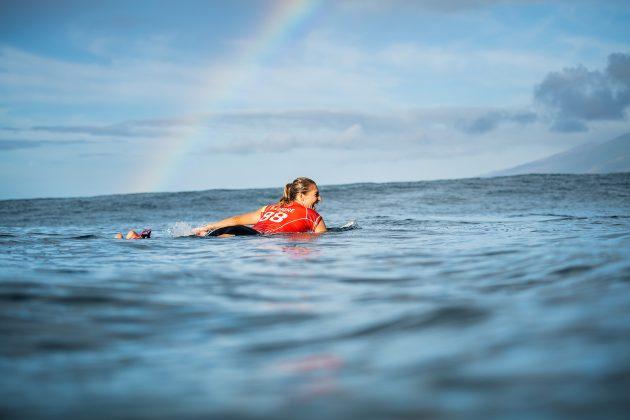 Stephanie Gilmore, Honolua Bay, Maui, Havaí. Foto: WSL / Dayanidhi Das.