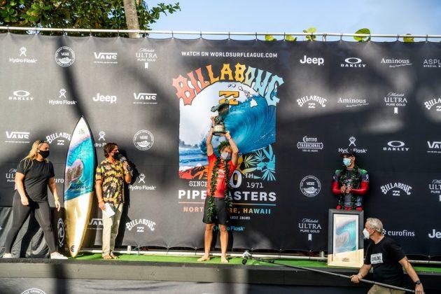 John John Florence, Billabong Pipe Masters 2020, North Shore de Oahu, Havaí. Foto: WSL / Brent Bielmann.