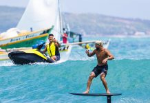 Surfe, kite e foil