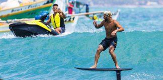 Surfe, kite e foil