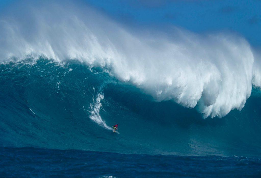 Soledade puxa os limites na histórica sessão do dia 16 de janeiro em Maui.