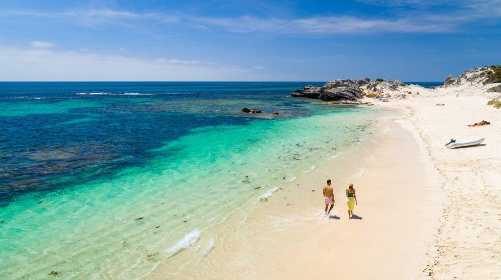 Reserva natural do Oeste australiano, ilha de Rottnest recebe pela primeira vez uma etapa da elite mundial.