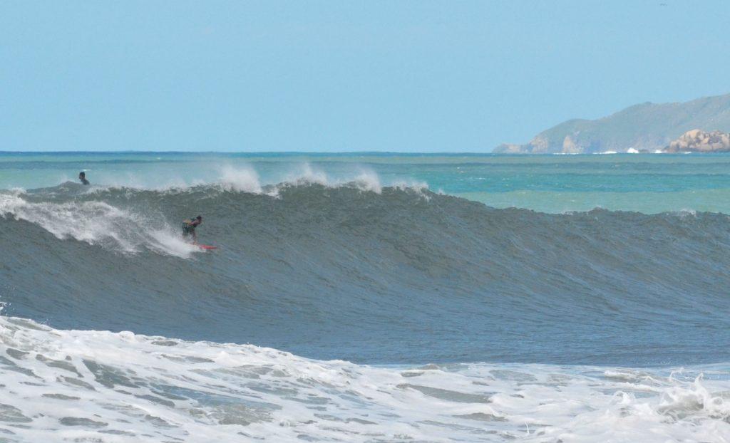 Transmissão ao vivo de big swell vai acontecer em praia do litoral norte catarinense.