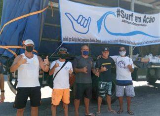 Surfistas combatem a fome