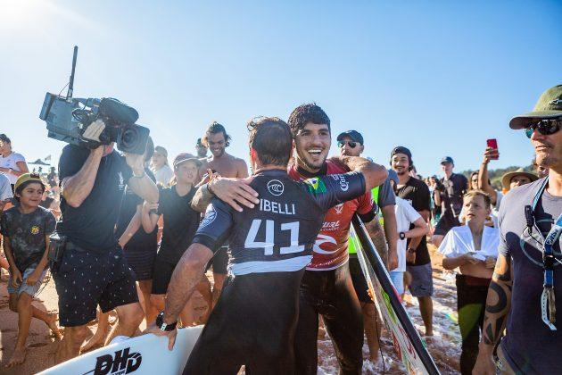 Caio Ibelli e Gabriel Medina, Narrabeen Classic 2021, Sidney, Austrália. Foto: WSL / Miers.