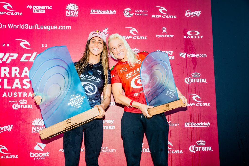 A campeã Caroline Marks e a vice Tatiana Weston-Webb.