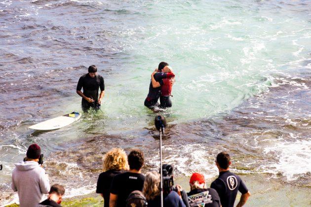 Filipe Toledo e Tatiana Weston-Webb,, Margaret River Pro 2021, Main Break, Austrália. Foto: WSL / Miers.