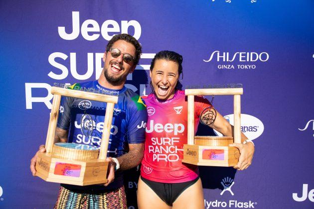 Johanne Defay e Filipe Toledo, Surf Ranch Pro 2021, Lemoore, Califórnia (EUA). Foto: WSL / Heff.