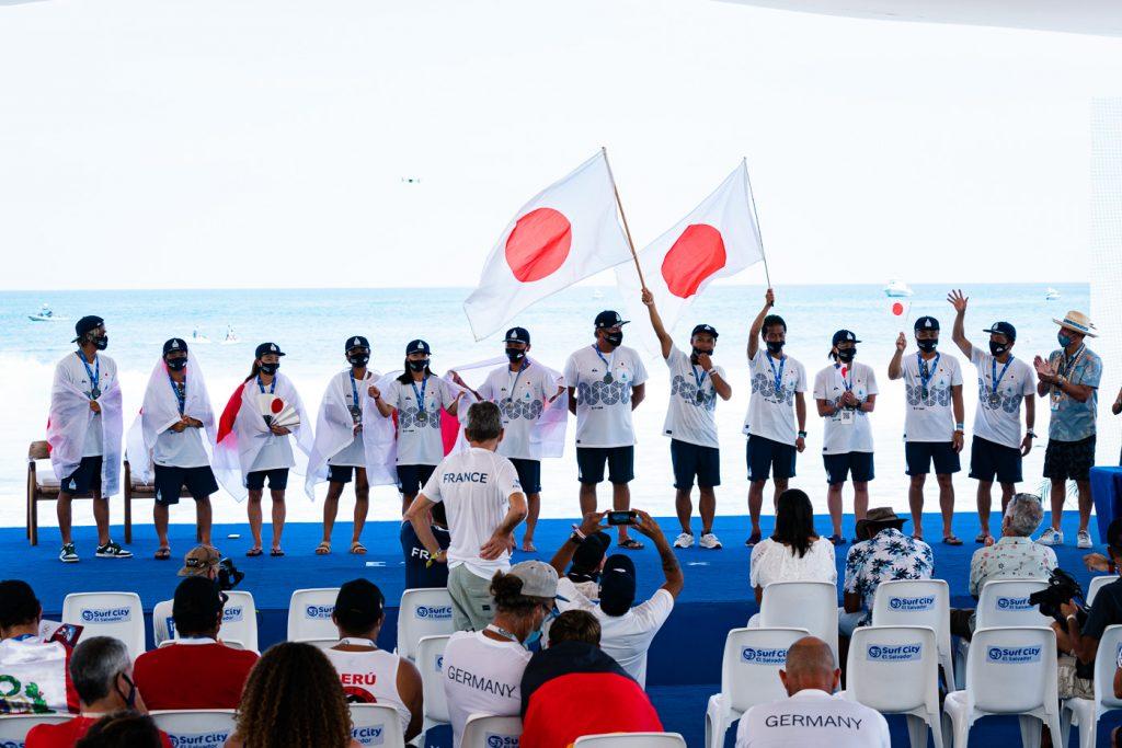 Time japonês durante evento classificatório em El Salvador.