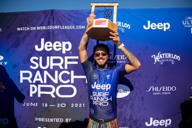 Filipe Toledo, Surf Ranch Pro 2021, Lemoore, Califórnia (EUA). Foto: WSL / Heff.