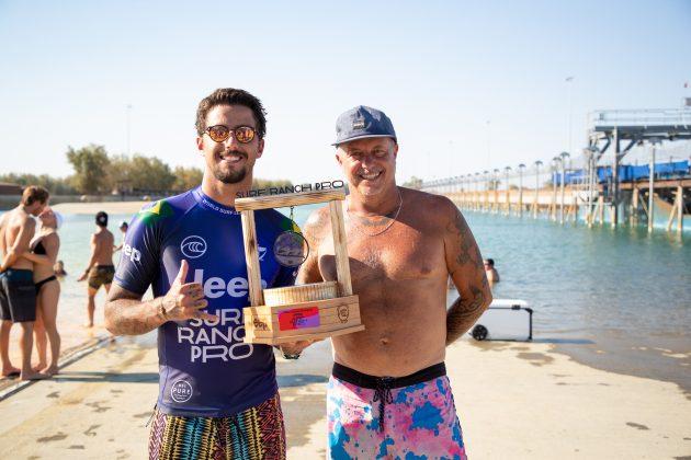 Filipe Toledo e Gabriel Medina, Surf Ranch Pro 2021, Lemoore, Califórnia (EUA). Foto: WSL / Heff.