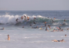 Surfing Party Wave