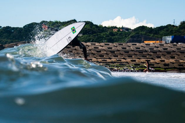 Gabriel Medina, Jogos Olímpicos 2021, Tsurigasaki Beach, Ichinomiya, Chiba, Japão. Foto: ISA / Ben Reed.