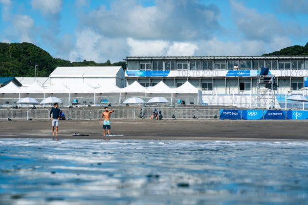 Tsurigasaki Beach, Jogos Olímpicos 2021, Tsurigasaki Beach, Ichinomiya, Chiba, Japão. Foto: ISA / Ben Reed.