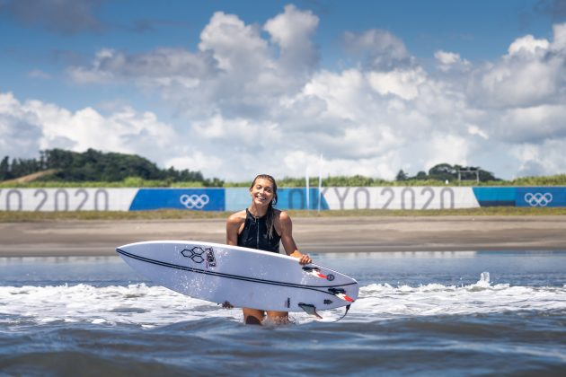Leilani McGonagle, Jogos Olímpicos 2021, Tsurigasaki Beach, Ichinomiya, Chiba, Japão. Foto: ISA / Sean Evans.