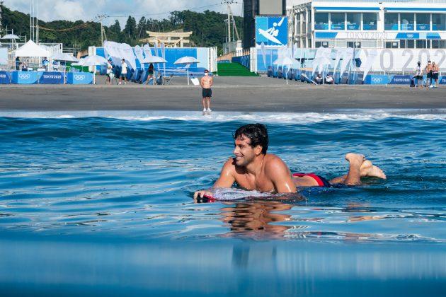 Jeremy Flores, Jogos Olímpicos 2021, Tsurigasaki Beach, Ichinomiya, Chiba, Japão. Foto: ISA / Ben Reed.