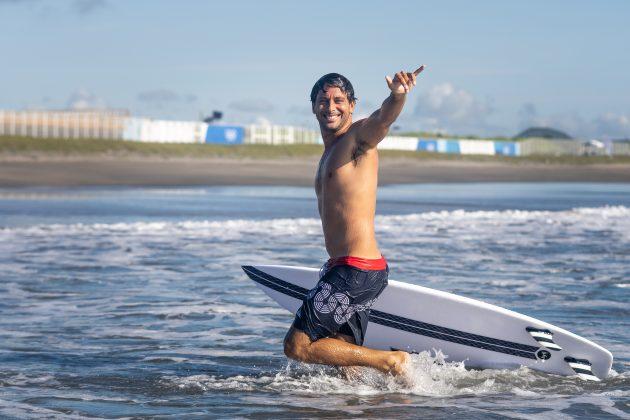 Jeremy Flores, Jogos Olímpicos 2021, Tsurigasaki Beach, Ichinomiya, Chiba, Japão. Foto: ISA / Sean Evans.