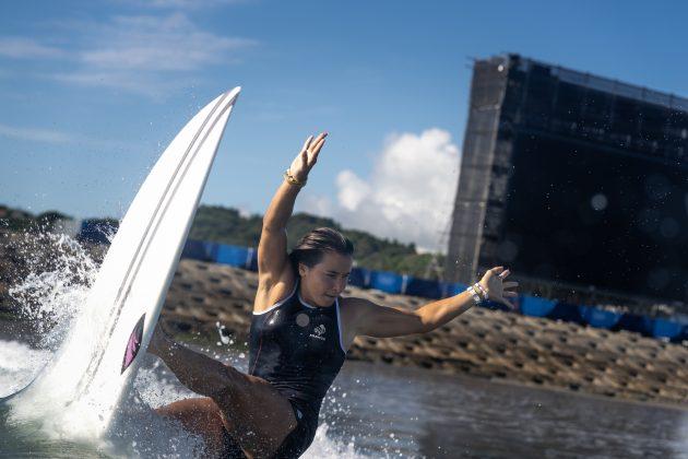 Johanne Defay, Jogos Olímpicos 2021, Tsurigasaki Beach, Ichinomiya, Chiba, Japão. Foto: ISA / Sean Evans.