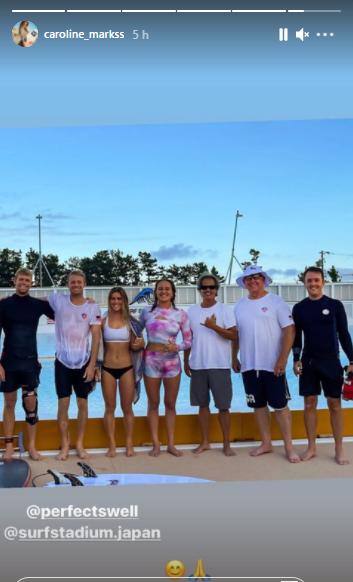 Time norte-americano treinou em piscina de ondas.