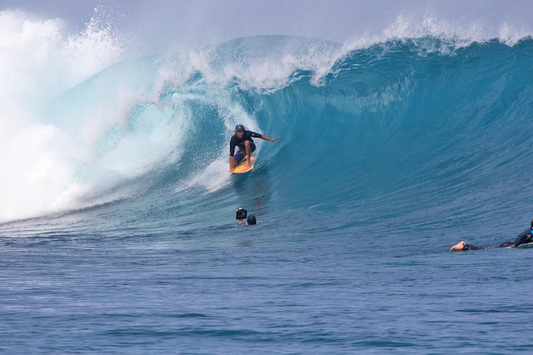 Joao Mauricio Jabour tem experiência de sobra nos tubos de Mentawai.