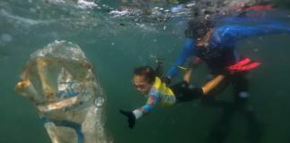 Mini defensora do oceano