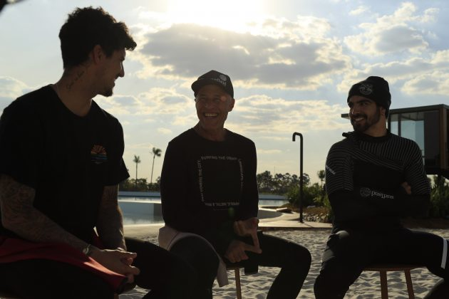 Gabriel Medina, Ricardo Bocão, Caio Castro, Surfland Brasil, Garopaba (SC). Foto: Divulgação.