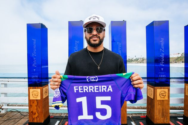 Italo Ferreira, Rip Curl WSL Finals 2021, Trestles, Califórnia (EUA). Foto: WSL / Thiago Diz.