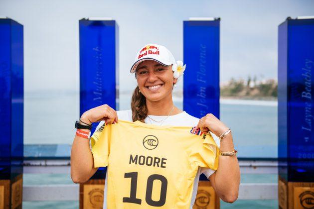 Carissa Moore, Rip Curl WSL Finals 2021, Trestles, Califórnia (EUA). Foto: WSL / Thiago Diz.