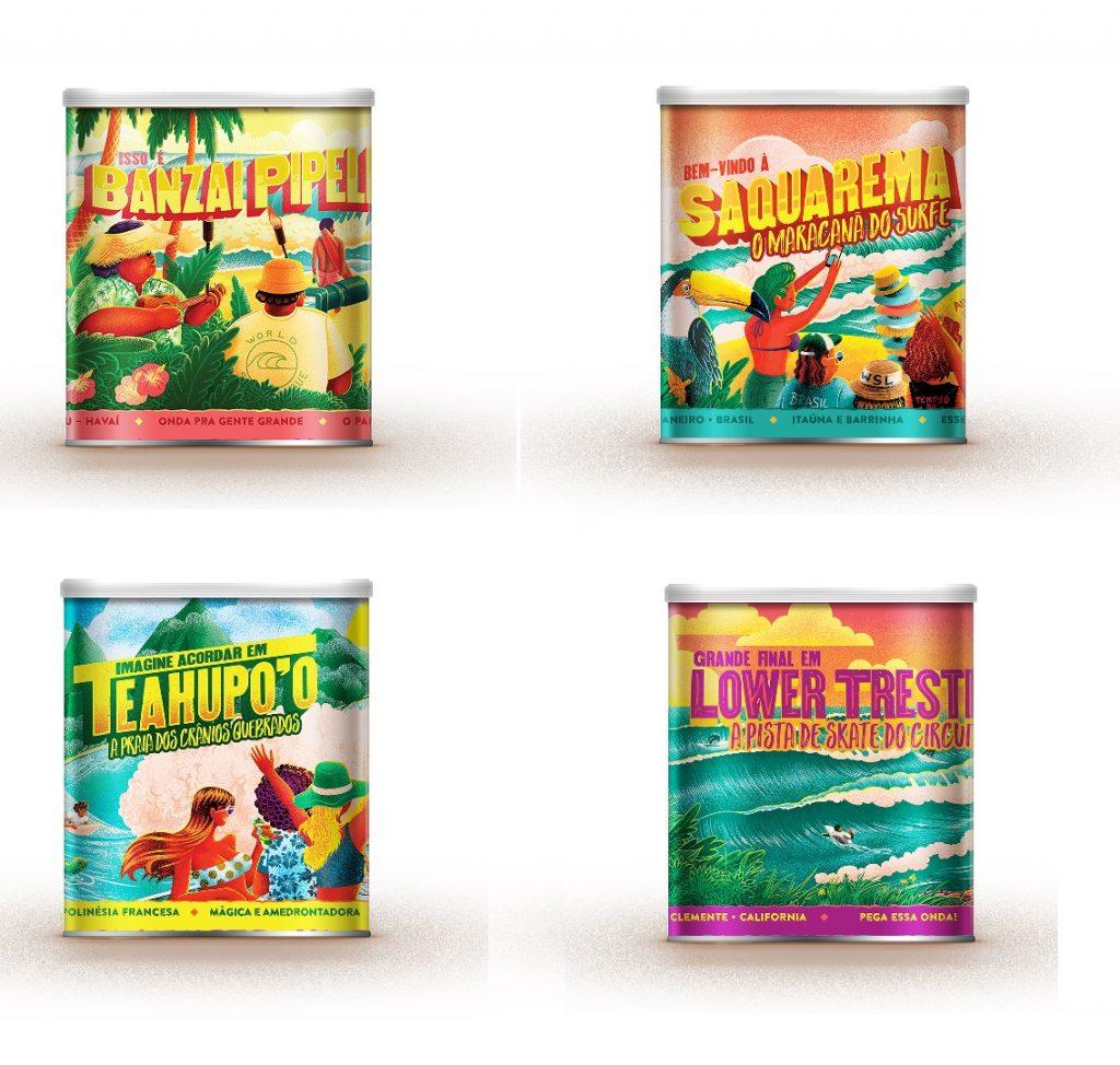 Neston lança latas colecionáveis das praias do circuito mundial.