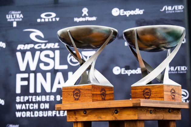 Troféus, Rip Curl WSL Finals 2021, Trestles, Califórnia (EUA). Foto: WSL / Thiago Diz.