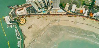 Faixa de areia liberada