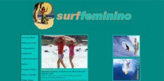 Surf feminino dropa na Internet