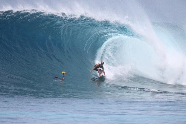 Derek Ho, Backdoor, North Shore de Oahu, Hawaii. Foto: Marcela Jamacuru.