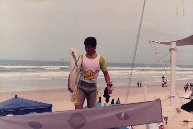Foto 7: Fábio Gouveia, Hang Loose Pro Contest 1987, praia da Joaquina, Florianópolis (SC)