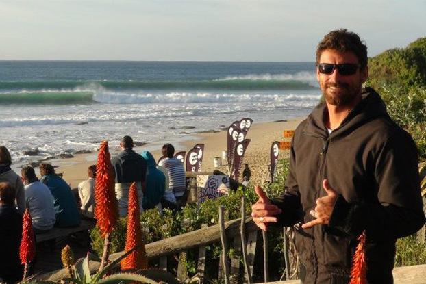 Leo Neves, Jeffreys Bay, África. Foto: Arquivo pessoal.