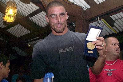 Leo Neves - Festa de premiação SuperSurf 2003. Foto: Nilton Santos.