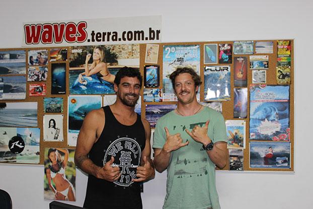 Leo Neves e Gunnar Lubahn. Foto: Luis Farina.