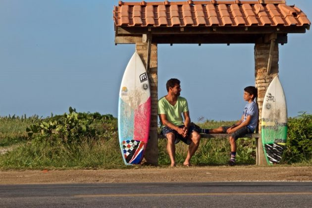 Léo e Valentin Neves. Foto: Luciano Santos Paula.