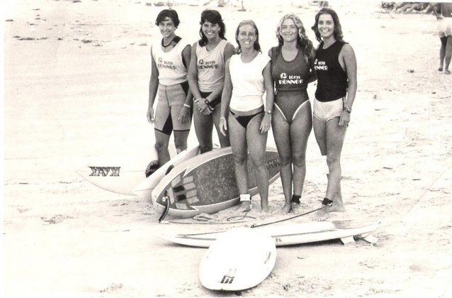 Roberta Borges e outras competidoras na década de 80, no Circuito Renner