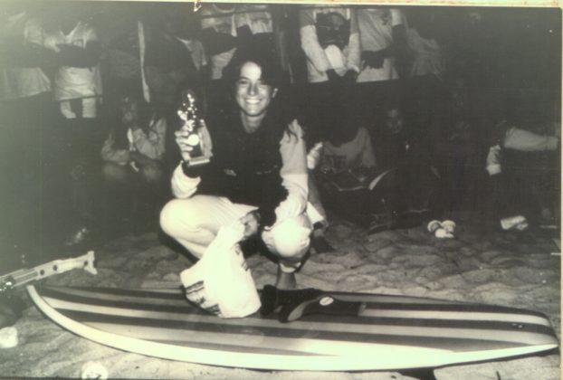 Roberta Borges vence o título brasileiro em 1985, em Ubatuba (SP)