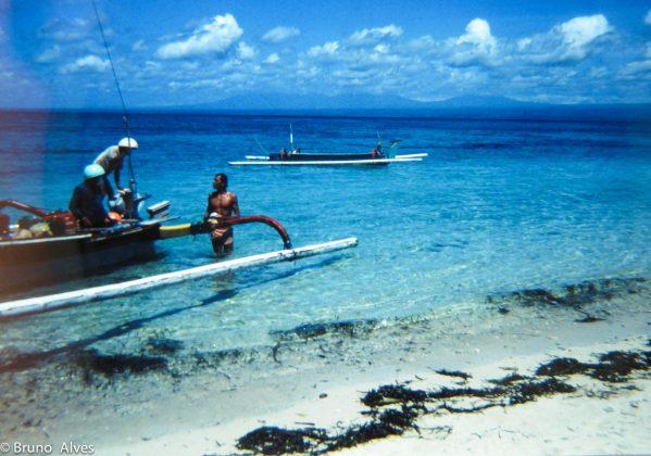 Oscar Janequine chegando em Nusa Lembongan, Indonésia
