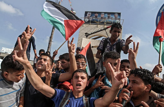 Palestinos protestam contra Israel em Gaza, @edu_martinsp