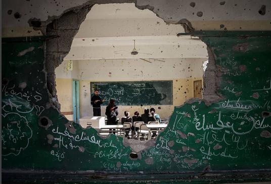 Crianças palestinas no norte da Faixa de Gaza, @edu_martinsp