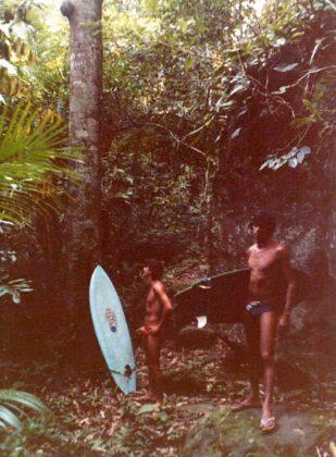 Fernando Mesquita e Romeu Andreatta voltando da Praia do Sono, Trindade (RJ)