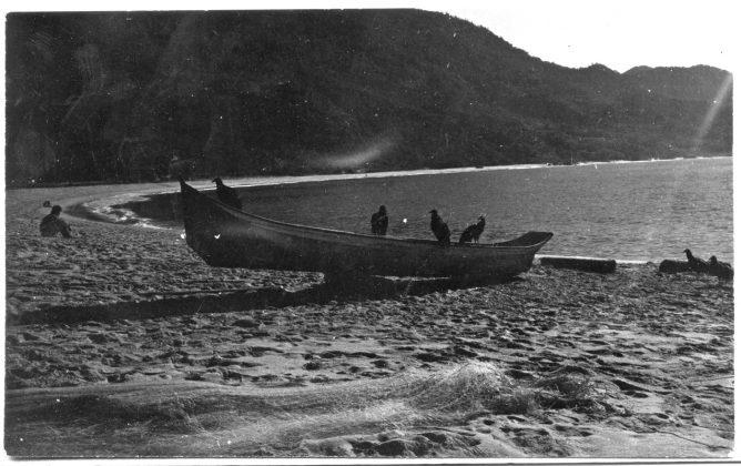 Cantão da praia da Trindade por volta de 1975, Trindade (RJ)