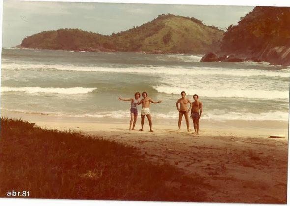 Laranjeiras, 1981: Bruno Alves, Tucano, Renato Zimermann e Marcelo Diniz, Trindade (RJ)