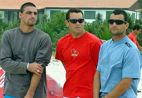 Leo, Raoni e Peterson. Foto: Ricardo Macario.